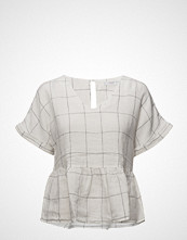 Mango Checked Frill Blouse