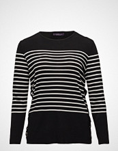 Violeta by Mango Side Lace-Up Striped Sweater