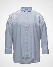 Violeta by Mango Embroidered Fine-Stripe Shirt