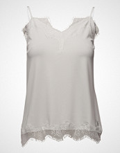 Coster Copenhagen Strap Top W. Lace T-shirts & Tops Sleeveless Hvit COSTER COPENHAGEN
