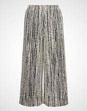 Diana Orving Cropped Pant Vide Bukser Sølv DIANA ORVING