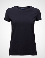 Gant Cott/Ela C-Neck Ss T-Shirt T-shirts & Tops Short-sleeved Blå GANT