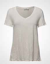 Mango Flecked Linen-Blend T-Shirt