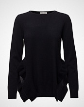 Davida Cashmere Side Slit Frill Sweater