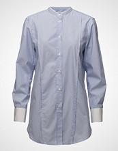 Filippa K Striped Band Collar Long Shirt