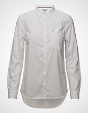 Tommy Jeans Tjw Original Light Oxford Shirt Langermet Skjorte Hvit TOMMY JEANS