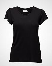 Kaffe Anna O-Neck T-Shirt T-shirts & Tops Short-sleeved Svart KAFFE