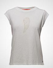 Coster Copenhagen T-Shirt W. Burn-Out Wing T-shirts & Tops Short-sleeved Hvit COSTER COPENHAGEN