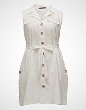Violeta by Mango Linen-Blend Shirt Dress