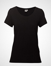 Saint Tropez T-Shirt With Round Neck T-shirts & Tops Short-sleeved Svart SAINT TROPEZ