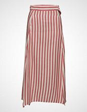 Mango Striped Linen-Blend Skirt