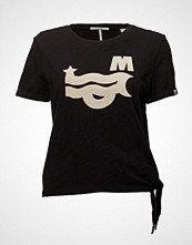 Scotch & Soda Crew Neck Surf Inspired Tee With Side Tie Detail