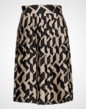 Mango Geometric Print Pleated Skirt