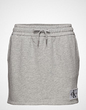 Calvin Klein Monogram Logo Badge Knit Skirt