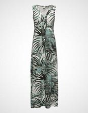 Cream Palm Dress Long