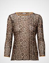 Saint Tropez Leopard Print Mesh Top