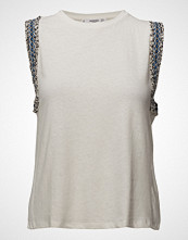 Mango Embroidered Trims Top
