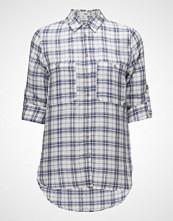 Mango Check Linen Shirt