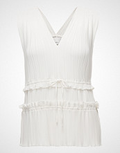 3.1 Phillip Lim Pleated Vneck Tank W Gathered Details