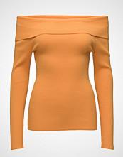 Tommy Jeans Tjw Off Shoulder Rib Sweater Strikket Genser Oransje TOMMY JEANS