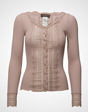 Rosemunde Silk Cardigan Regular Ls W/Wide Lace