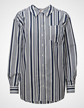 Tommy Jeans Tjw Stripe Neck Detail Shirt Langermet Skjorte Blå TOMMY JEANS