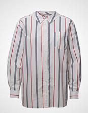 Tommy Jeans Tjw Stripe Neck Detail Shirt Langermet Skjorte Hvit TOMMY JEANS