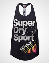 Superdry Sport Cali Girl Vest T-shirts & Tops Sleeveless Blå SUPERDRY SPORT