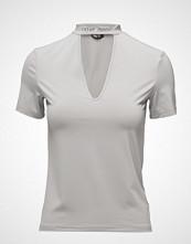 Cheap Monday Deep Top Hacker Stamp T-shirts & Tops Short-sleeved Grå CHEAP MONDAY