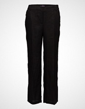 Violeta by Mango Side Slit Linen-Blend Trousers