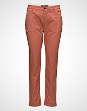 Scotch & Soda Chino With Small Embroidery Chinos Bukser Oransje SCOTCH & SODA