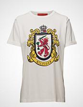 Hilfiger Collection Crest Logo Tshirt Ss T-shirts & Tops Short-sleeved Hvit HILFIGER COLLECTION