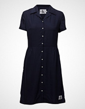 Calvin Klein Drapey Tencel Short Sleeve Tea Dress