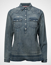 Scotch & Soda Denim Blouse With Over-Dye Langermet Skjorte Blå SCOTCH & SODA