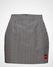 Calvin Klein A-Line Gingham Short Skirt