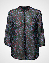 French Connection Aubine Crinkle Collarlss Shirt