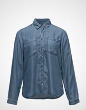 Violeta by Mango Medium Wash Denim Shirt