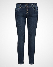 Pulz Jeans Rosita Midtwaist Ankle Skinny Jeans Blå Pulz Jeans
