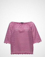 Violeta by Mango Openwork Cotton-Blend T-Shirt