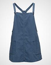 Violeta by Mango Pocket Denim Pinafore Dress