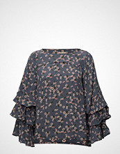 by Ti Mo Printed Flared Blouse
