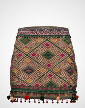 Mango Pom Poms Embroidered Skirt