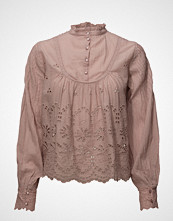 by Ti Mo Broderie Anglaise Bow Blouse