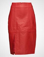 Just Female Beate Leather Skirt