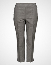 Violeta by Mango Prince Of Wales Linen-Blend Trousers