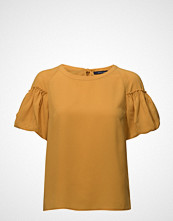 French Connection Crepe Light Puff Sleeve Top