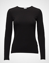 Filippa K Cotton Stretch Long Sleeve T-shirts & Tops Long-sleeved Svart FILIPPA K