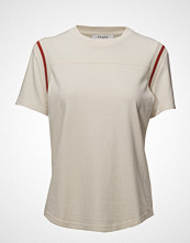 FRAME Rugby Crew Tee T-shirts & Tops Short-sleeved Hvit FRAME