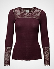 Rosemunde Silk T-Shirt Regular Ls W/Lace