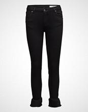 2nd One Nicole 002 Crop, Black Ruffle, Jeans